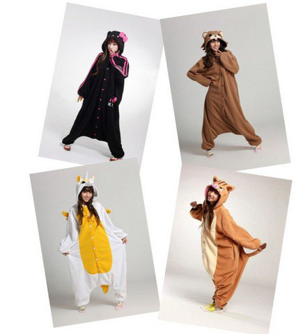 Four girls favorite animal onesies