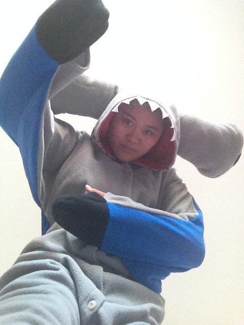 Hammerhead shark onesies