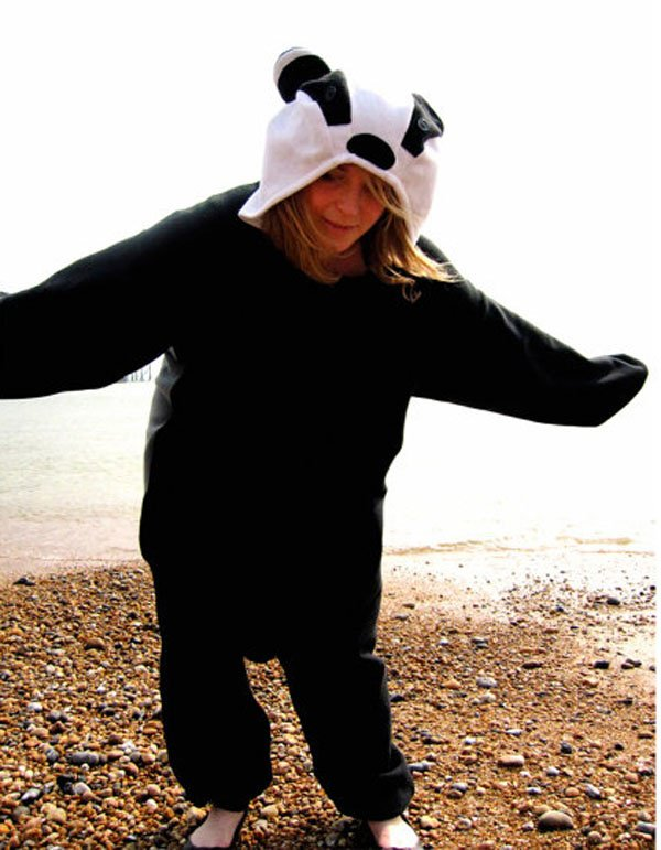 Badger animal onesie