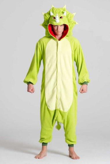 Triceratops animal onesie