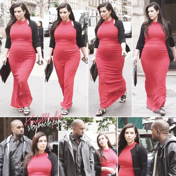 29 AVRIL 2013 :Kime Kardashian et Kanye West en pleine séance shopping dans les plus luxueuses boutiques de notre capitale ! Le couple a ensuite déjeuné au restaurant L'Avenue.