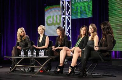 "Nina Dobrev & Candice Accola ""Kick Ass"" at 2011 Winter TCA Press Tour"