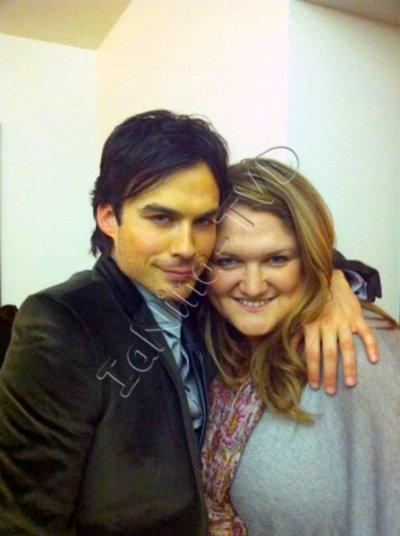 Photo Ian avec Carina Mackenzie  et Team Caroline !