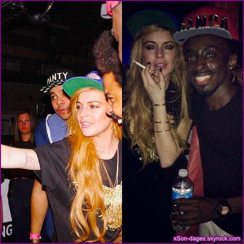 ♥ 30/12/13 : Lindsay aux côtés de Major Lazer dans un club à NYC + Deux photos personnelles de Lindsay  ♥