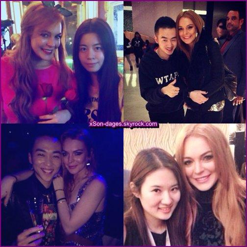 ♥ 07/01/14 : Lindsay faisant du shopping + Lindsay posant avec des fans + Lindsay faisant un shooting  ♥