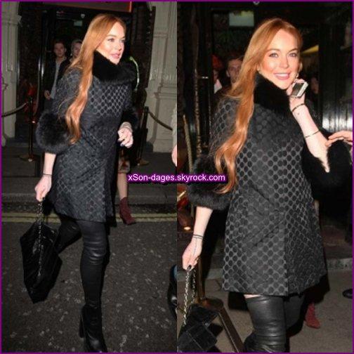 ♥ 09/01/14 + 10/01/14 : Lindsay dans les rues de Londres + Quelques photos personnelles de Lindsay ♥