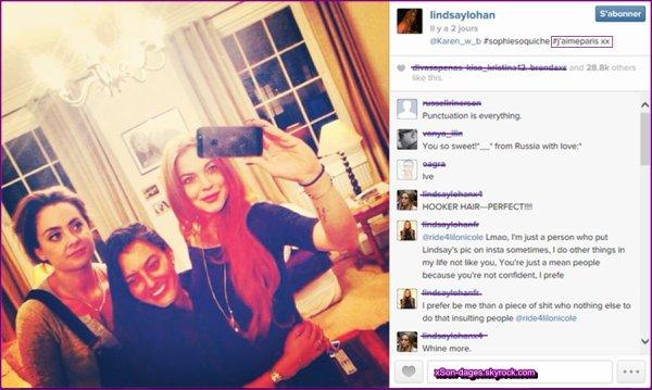 ♥ 11/01/14 : Lindsay dans les rues de Londres + Photo Instagram + Lindsay posant avec des fans + Une photo de son shoot réalisé en Chine ♥