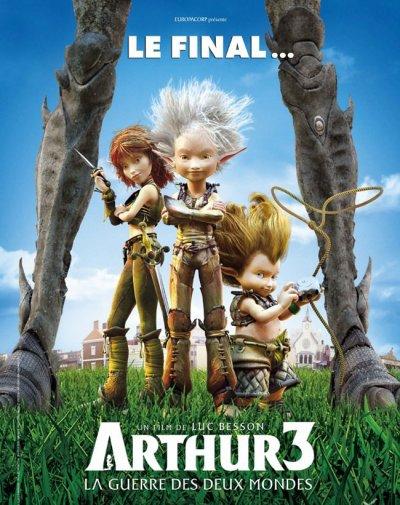"""ARTHUR 3 """"LA GUERRE DES DEUX MONDES"""" DVD et BLU-RAY"""