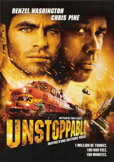 UNSTOPPABLE DVD et BLU-RAY
