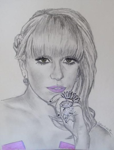 My drawings of lady gaga