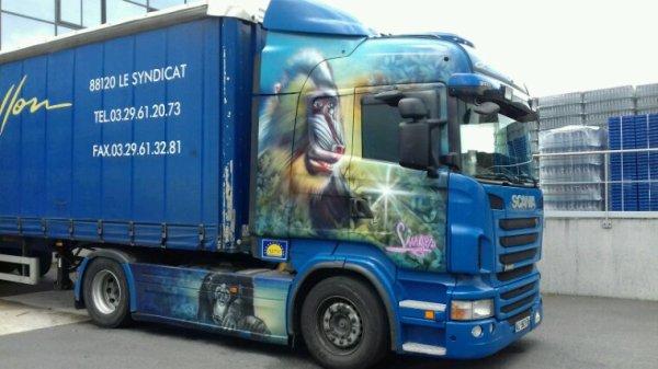 Scania des transports Jean rouillon de st âme 88