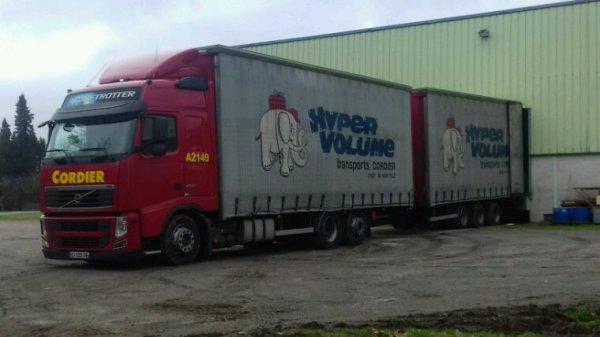 Volvo fh 6x2 des transports cordier  de issus sur til  21