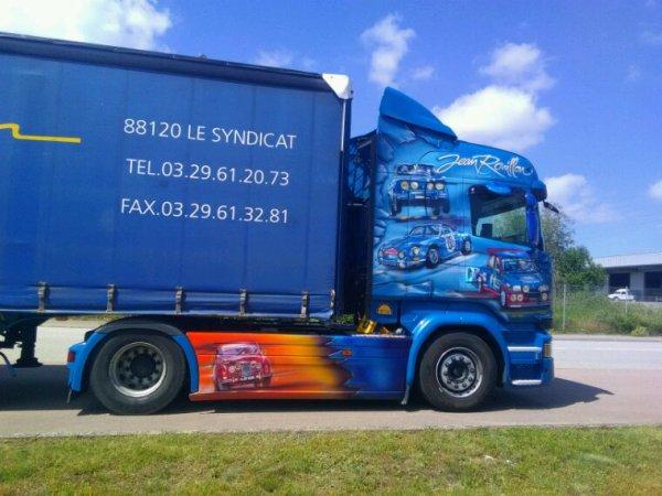 Scania des transports jean rouillon de le syndicat 88