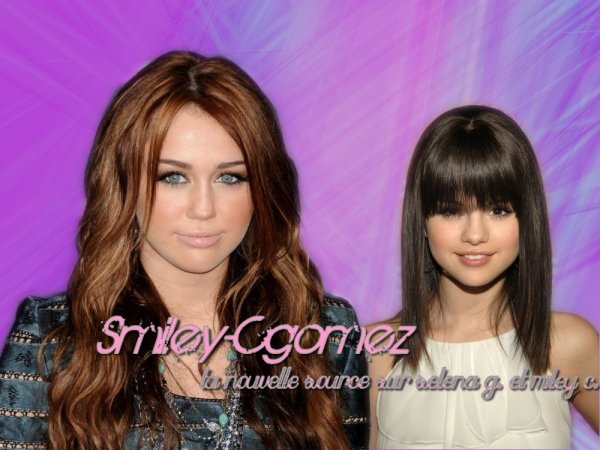 Smiley-Cgomez ,  ta source consacrée à Selena Marie Gomez et Destiny Hope Cyrus.