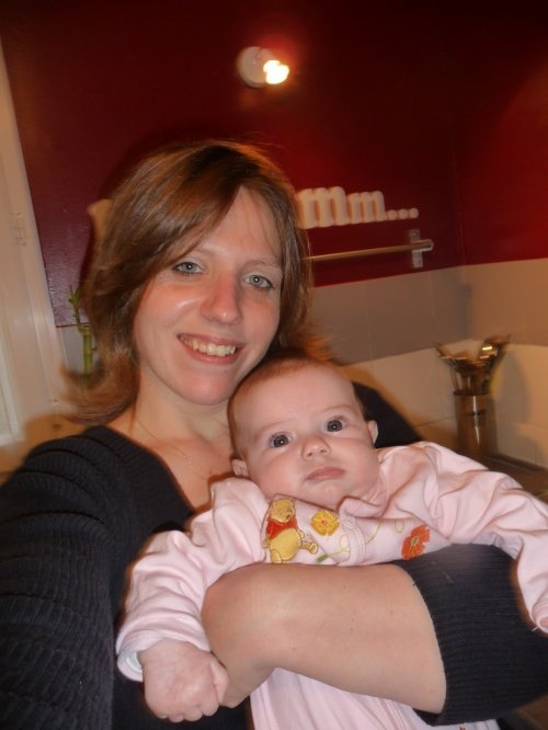 ma fille Alyssa 3mois et moi