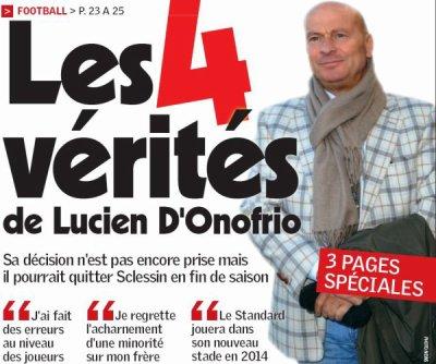 Luciano D'Onofrio parle de départ: un peu de discernement...que diable!