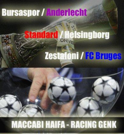 Tirage -piège pour nos clubs belges