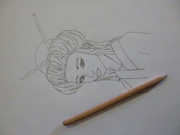 Voici 2 petits dessins que je viens de faire (: