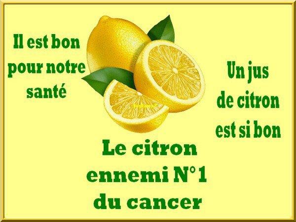 LE CITRON ENNEMI N°1  DU CANCER