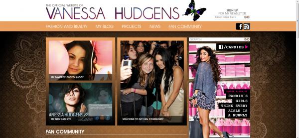 Le nouveau site officiel de Vanessa est ouvert !