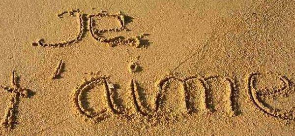 Les traces dans le sable.