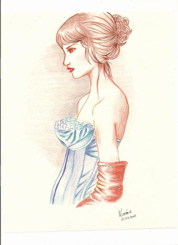 Model de femme  (Crayons de couleurs)