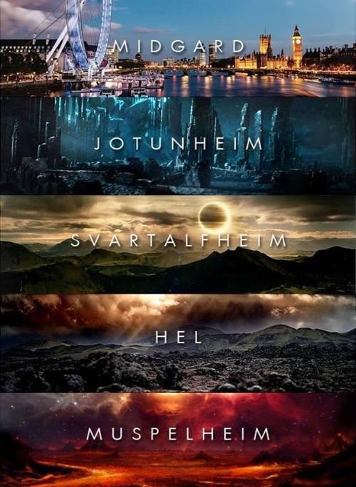 Les neufs mondes de la mythologie Nordique