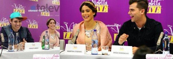 le 21 janvier 2015 - le groupe à la Conférence de presse au Portugal