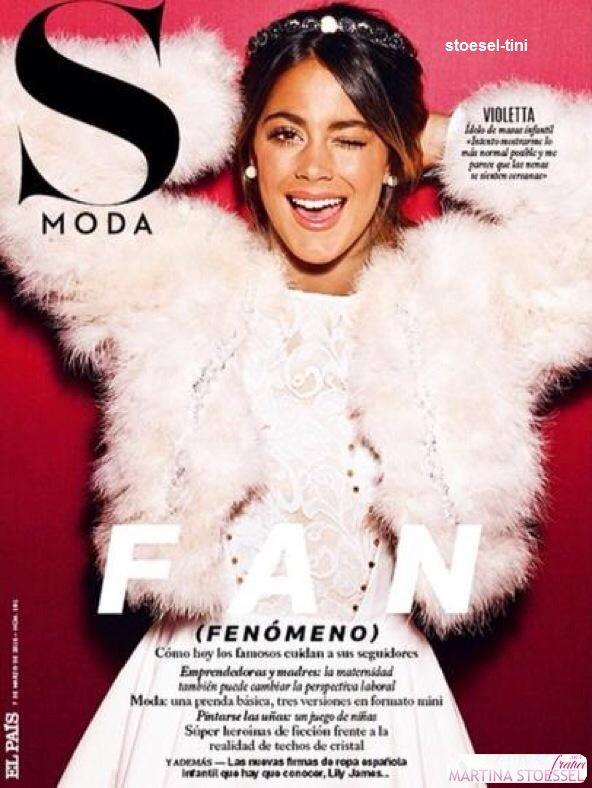 martina pour le magazine S Moda - Espagne