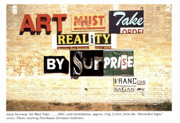Art must take reality by surprise