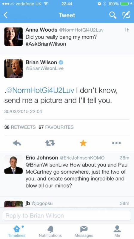 Brian Wilson won the internet on Monday...