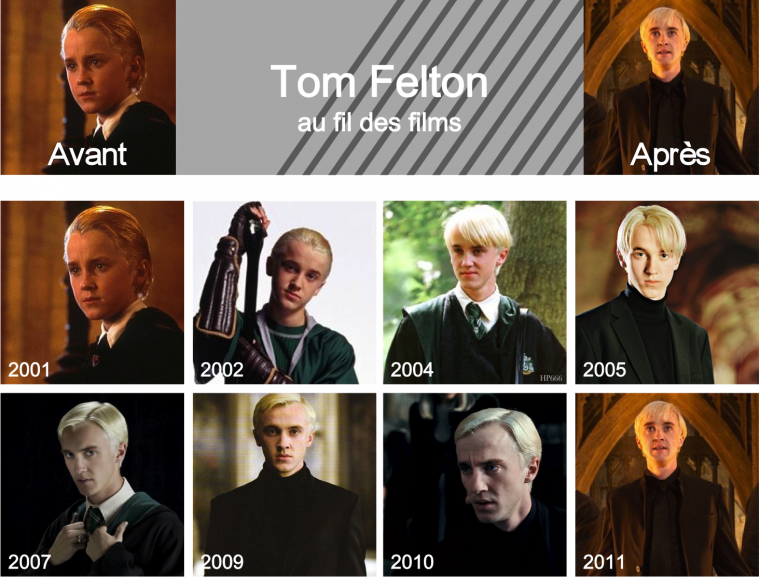 Tom Felton au fil des films