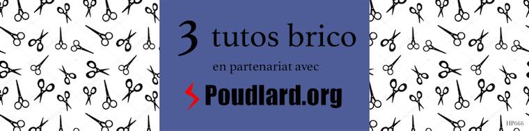 3 tutos brico en partenariat avec Poudlard.org
