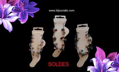 CHAINE CHEVILLE SOLDES www.bijounails.com