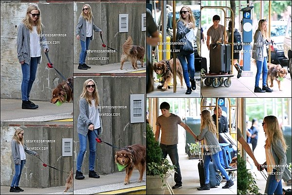 3 septembre 2013 : Amanda, Justin & Finn arrivant à l'aéroport de Los Angeles