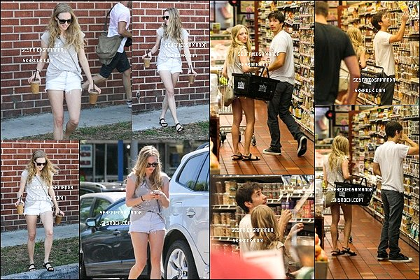 1 septembre 2013 : Amanda & Justin Long sont allés faire des courses au Whole Foods à Los Angeles