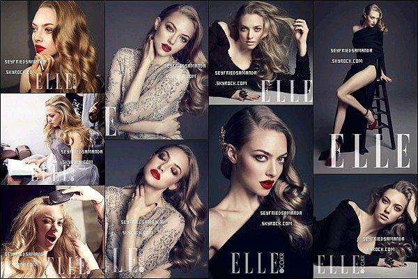 Amanda fait la couverture du magazine ELLE en Corée du Sud du mois de janvier 2014