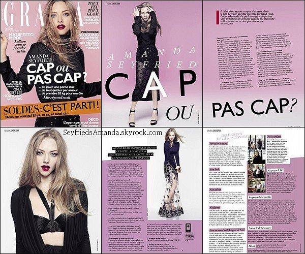 Amanda fait la couverture du magazine français GRAZIA pour le mois de janvier 2014