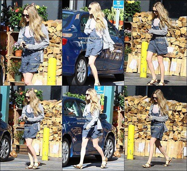 16 Janvier 2014 : Amanda est allée se promener dans les rues de Los Angeles vêtue d'une salopette.Tenue pas follement extraordinaire, la belle Amanda aime les choses simple et n'en fait pas des tonnes.