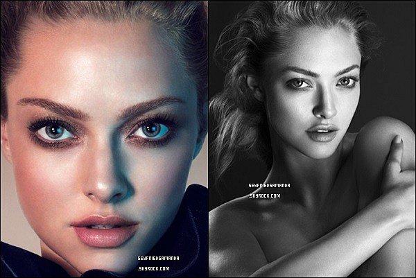 Voici 2 nouvelles photos du photoshoot pour Clé de Peau, Amanda est vraiment magnifique !