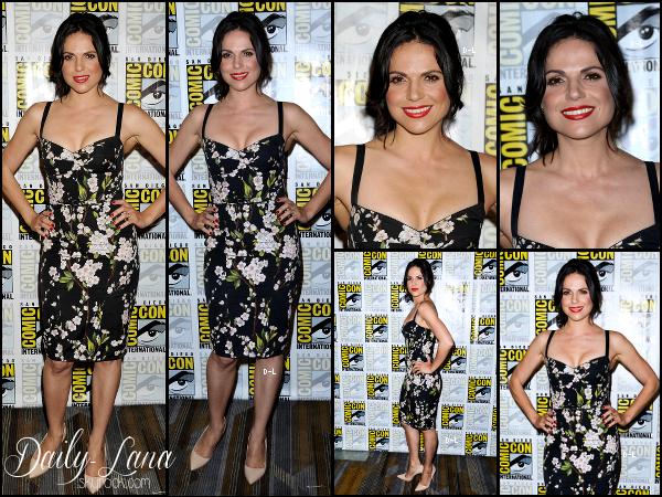 26 juillet 2014 : Lana était présente au panel de Once Upon A Time au Comic Con de San Diego.  Côté Look : J'adore sa tenue, je trouve qu'elle lui va bien. Qu'en pensez vous ?