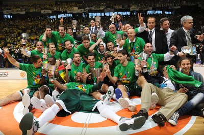 Panathinaikos BasketBall Club -- 6th European Champion.....We are the Champion's my friend...