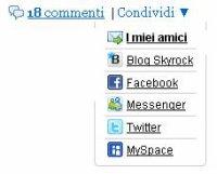 Fai girare i tuoi articoli su Facebook, Myspace, Twitter e Messenger!