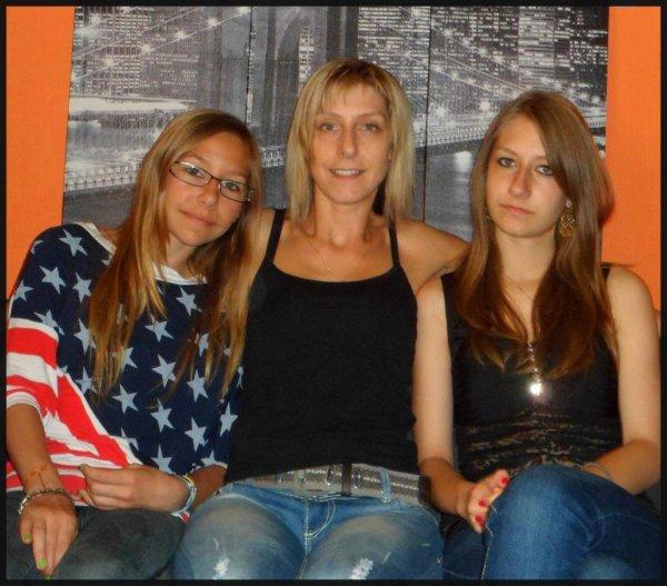 ma fille et mes deux petites filles