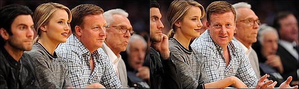 _ 01/04/12 - La belle Dianna à assister a un match de basket au Staples Center de Los Angeles, en Californie._