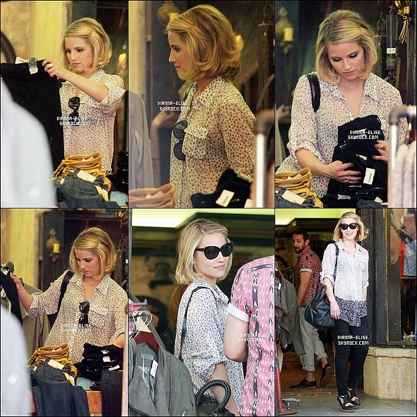 _ 04/04/12 - Miss Agron à été vue dans la matinée dans une boutique, à Los Angeles. _ Top ou Flop ?  _