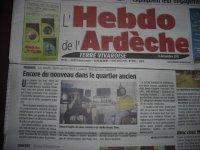 article drum time a  l'hebdo l'Ardèche