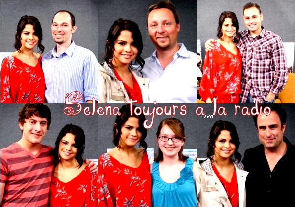 """. Selena à une interview pour la radio Kiis 108 (désoler pour la créas """"Kits"""")  ."""