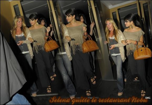 . Selena quittant le restaurant Nobu, Londres le 5 juillet dernier.  .