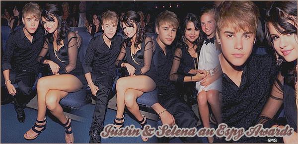 . Selena & Justin étaient à la cérémonie des Espy Awards au Nokia Theatre, à Los Angeles, le 13 juillet.  .